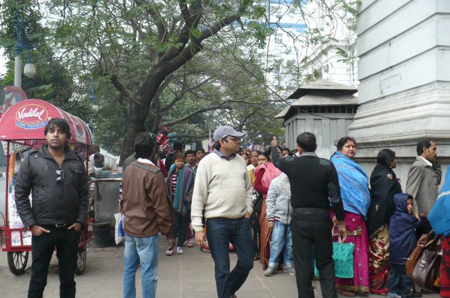 long queues outside the Indian museum