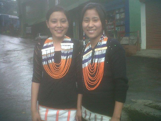 Local girls wearing Tribal jewellery