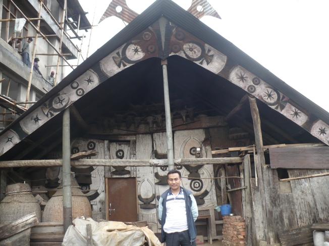 Angami Naga Tribal home