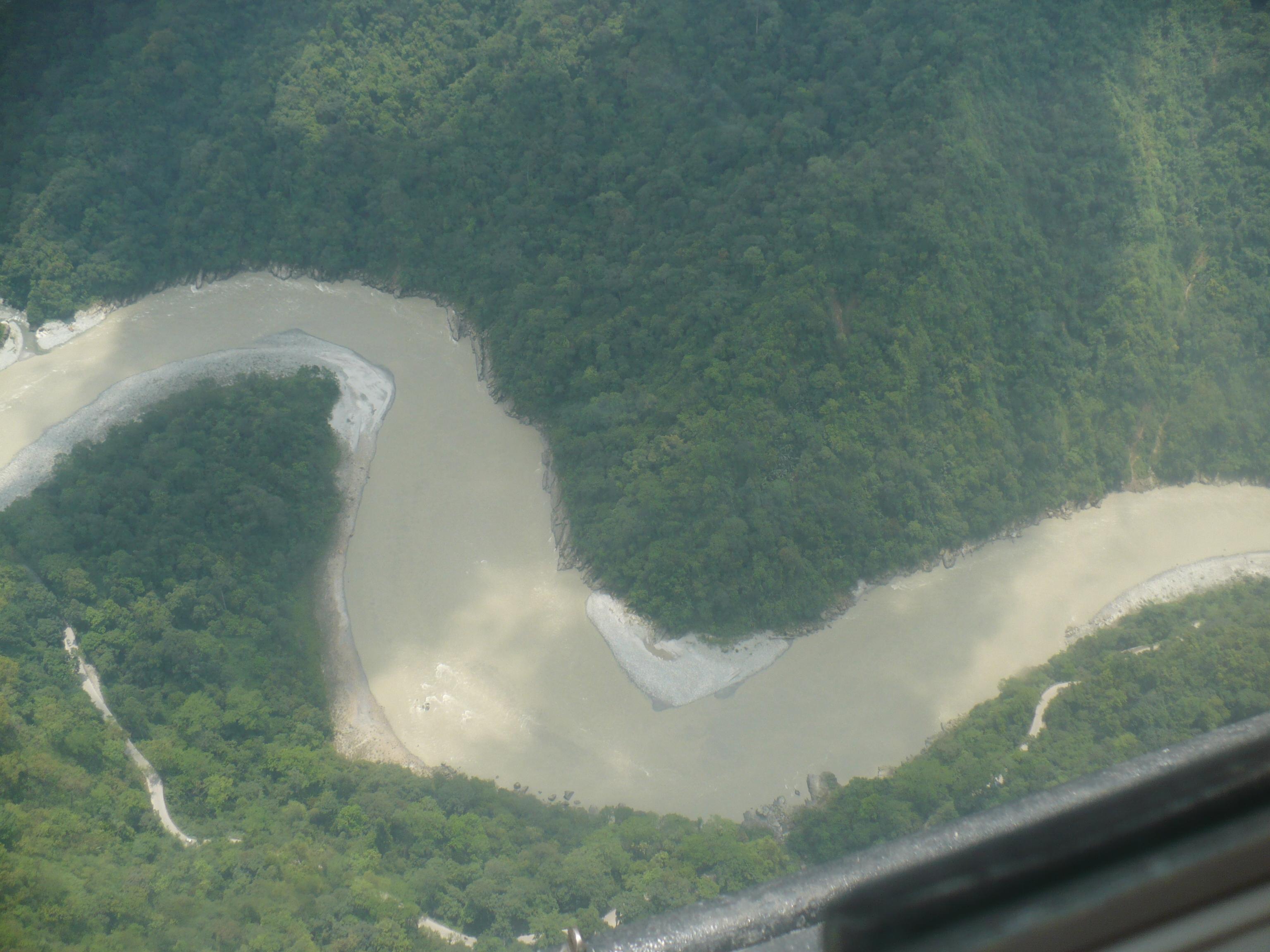 River Teesta. Aerial view