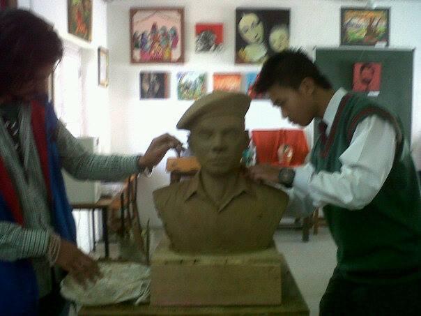 Distinguished Alumni In progress art work.  APS Dagshai