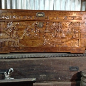Antique Camphor Box