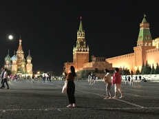St Basil's, Kremlin towers, Red Square by night
