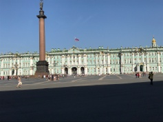 St Petersburg. Palace Square. Winter palace in the background
