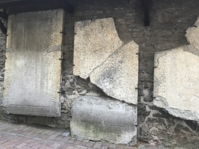 tombstones as wall decorations
